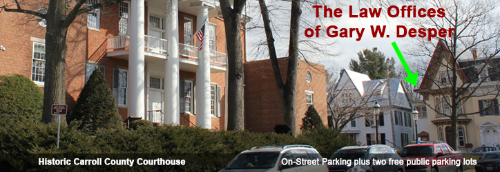 On-street parking in front of our building - 43 North Court Street, Westminster, MD 21157 - Historic Westminster